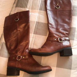 Bandolino riding boots size 7 wide calf